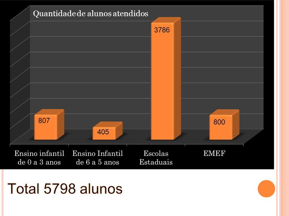 807 800 3786 405 Quantidade de alunos atendidos