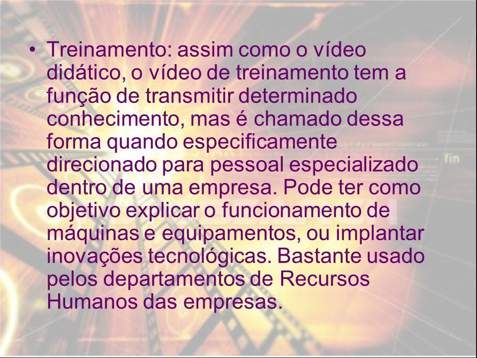 Videoarte: é um vídeo que, sem necessariamente apresentar uma narrativa (contar uma história), tem valor enquanto objeto artístico.
