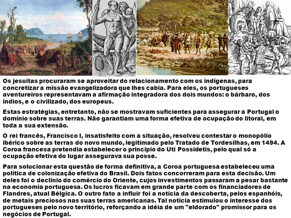 De modo a inserir o índio no processo de colonização os portugueses recorreram a três métodos.