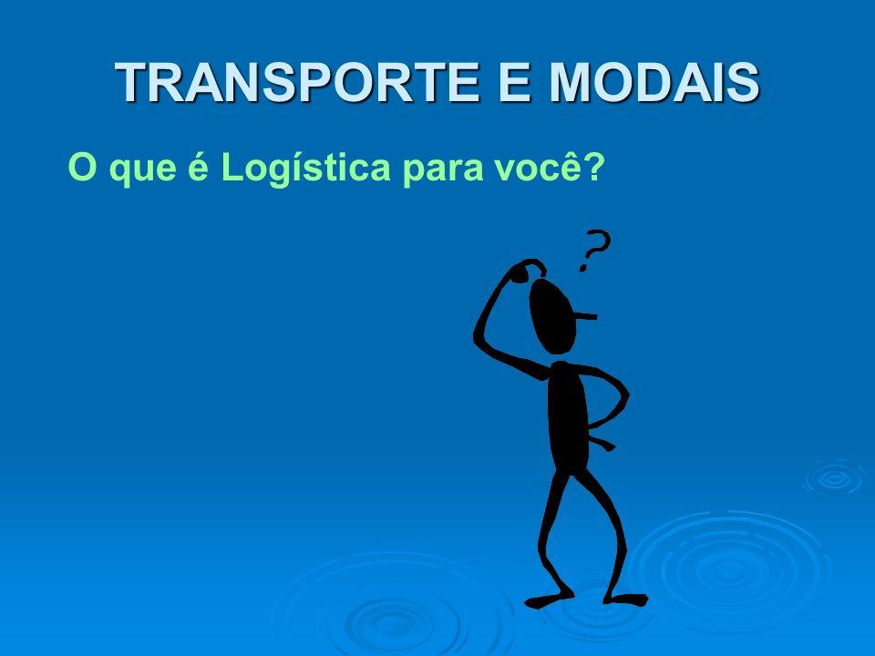 O que é Logística para você? TRANSPORTE E MODAIS