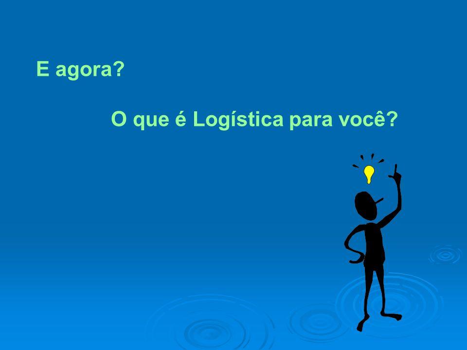 E agora? O que é Logística para você?