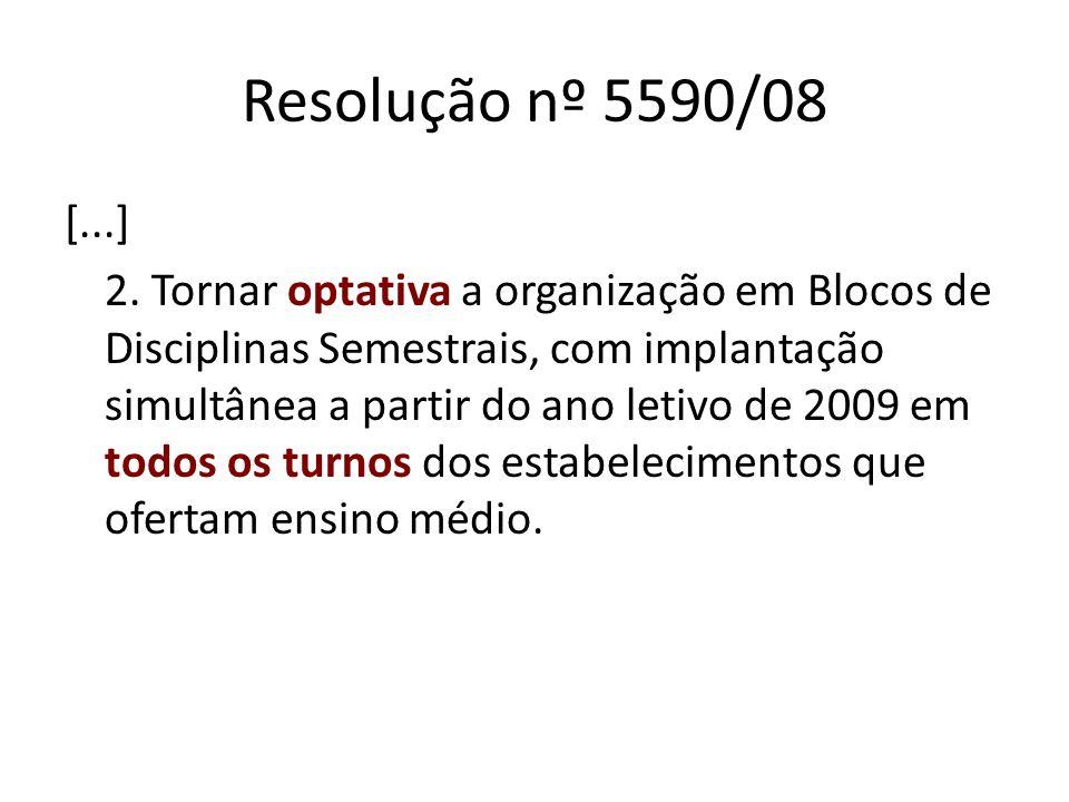 Instrução nº 021/08 [...] 3.1 Quanto à organização, deve-se considerar o número total de turmas do Ensino Médio: 3.2.