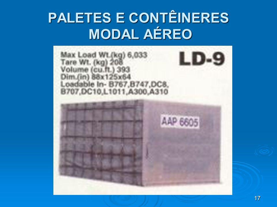 16 PALETES E CONTÊINERES MODAL AÉREO