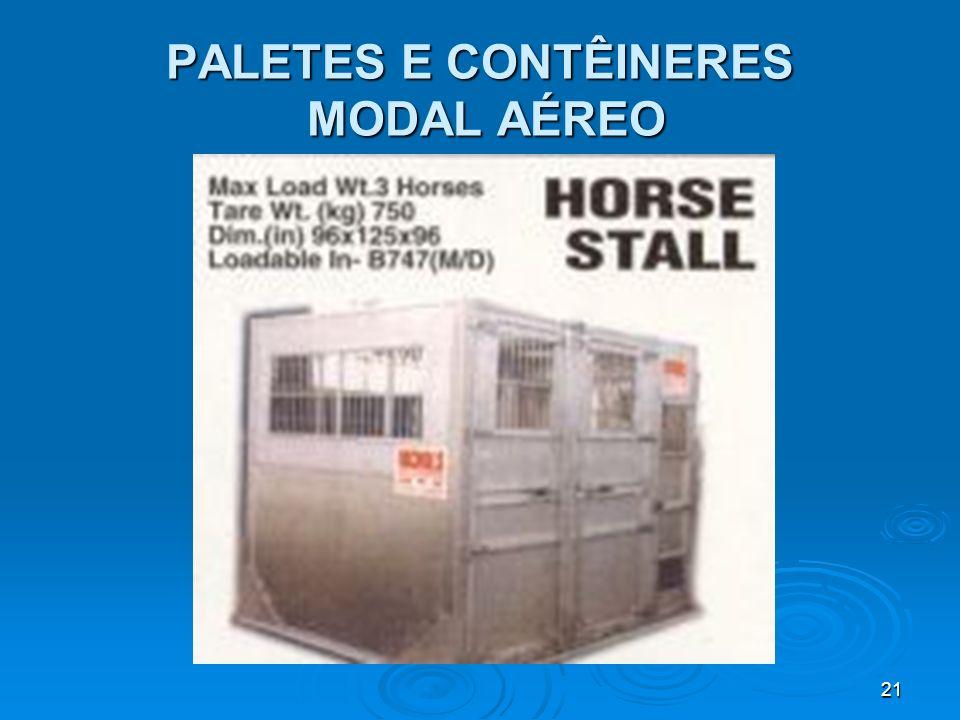 20 PALETES E CONTÊINERES MODAL AÉREO