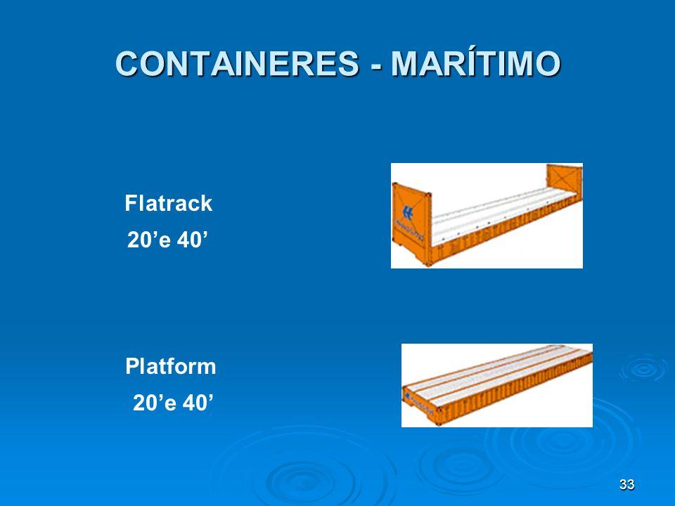 32 CONTAINERES - MARÍTIMO Hardtop Container 20e 40 Opentop Container 20 e 40