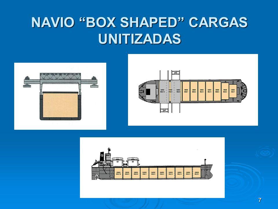 7 NAVIO BOX SHAPED CARGAS UNITIZADAS