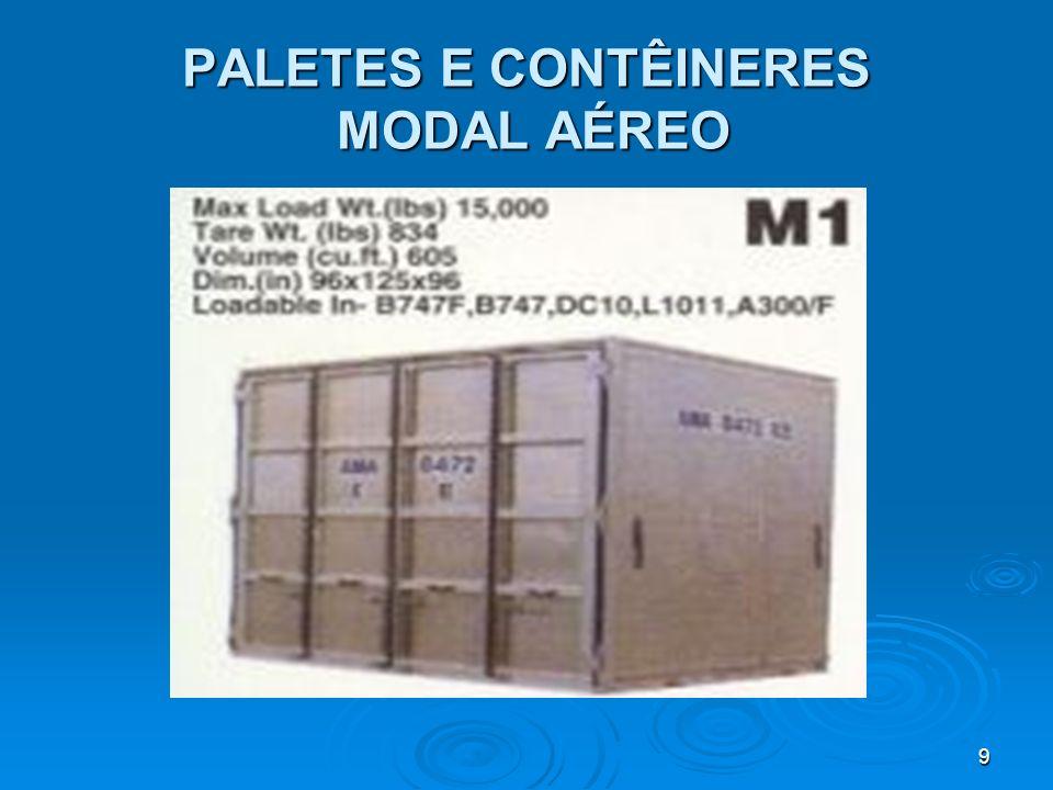 19 PALETES E CONTÊINERES MODAL AÉREO
