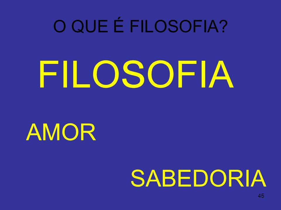 45 O QUE É FILOSOFIA? FILOSSOFIA AMOR SABEDORIA