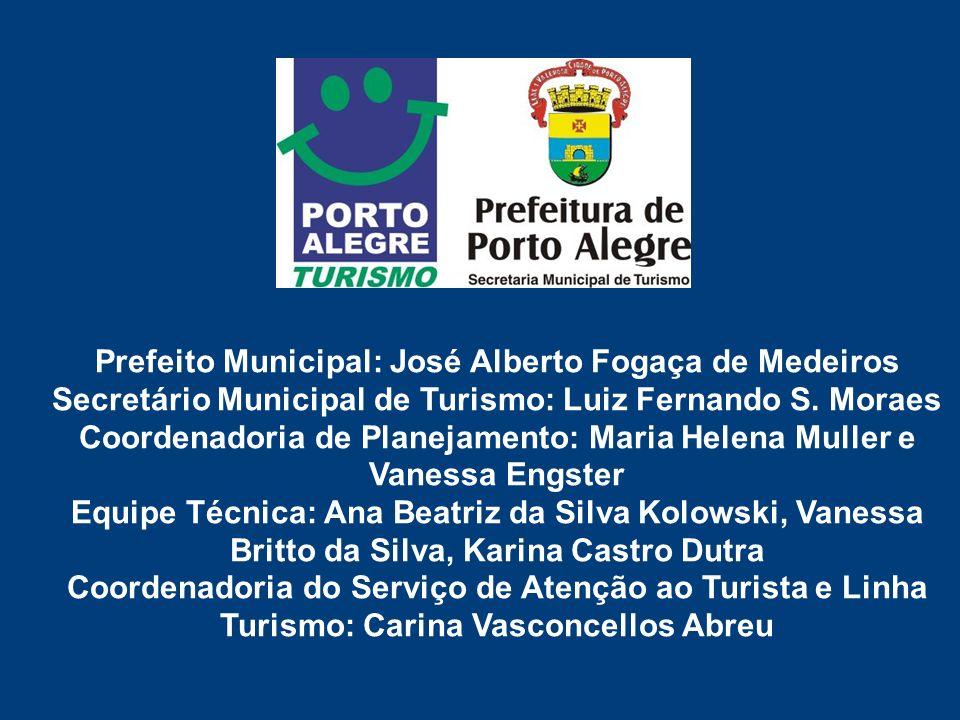 Prefeito Municipal: José Alberto Fogaça de Medeiros Secretário Municipal de Turismo: Luiz Fernando S.