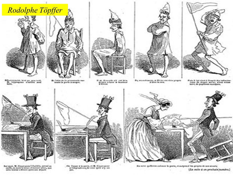 O pintor e poeta Wilhelm Busch lançou suas historietas, que logo se popularizaram por toda a Europa.