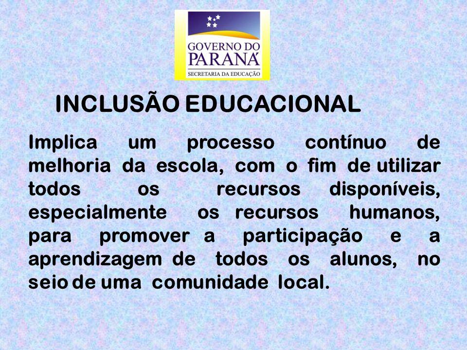Implica um processo contínuo de melhoria da escola, com o fim de utilizar todos os recursos disponíveis, especialmente os recursos humanos, para promo