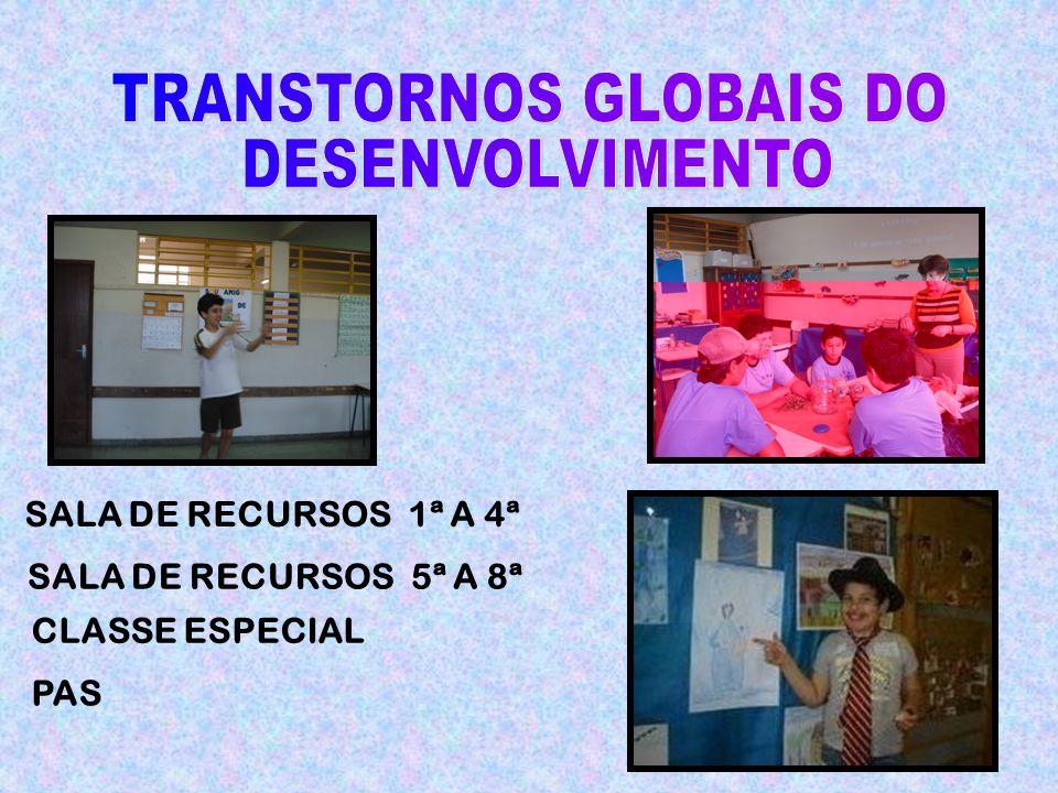 SALA DE RECURSOS 1ª A 4ª SALA DE RECURSOS 5ª A 8ª CLASSE ESPECIAL PAS