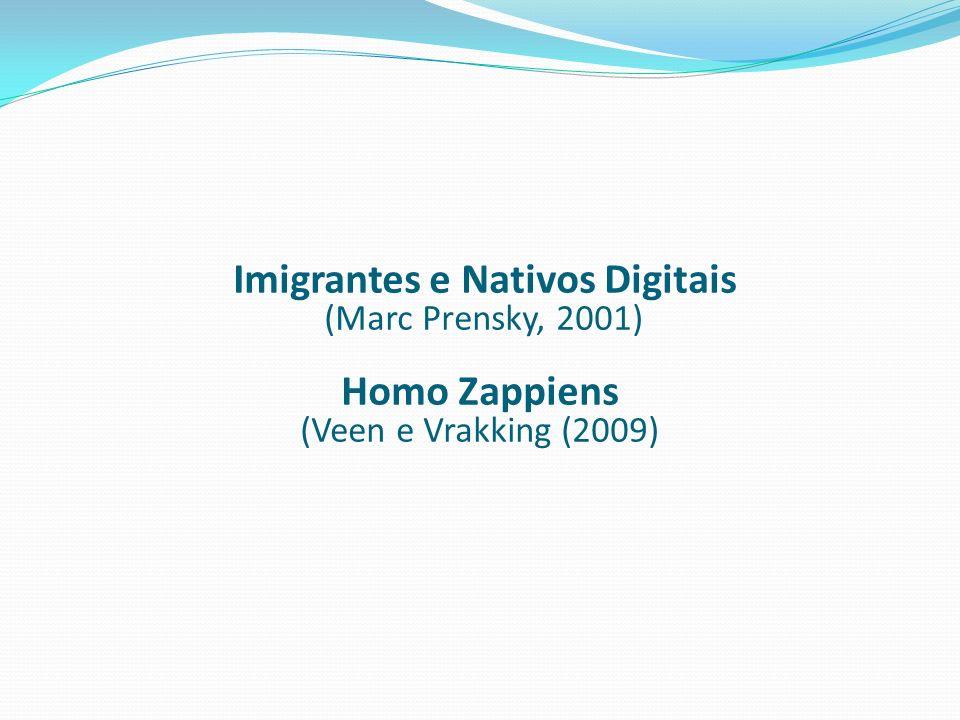 Imigrantes e Nativos Digitais (Marc Prensky, 2001) Homo Zappiens (Veen e Vrakking (2009)