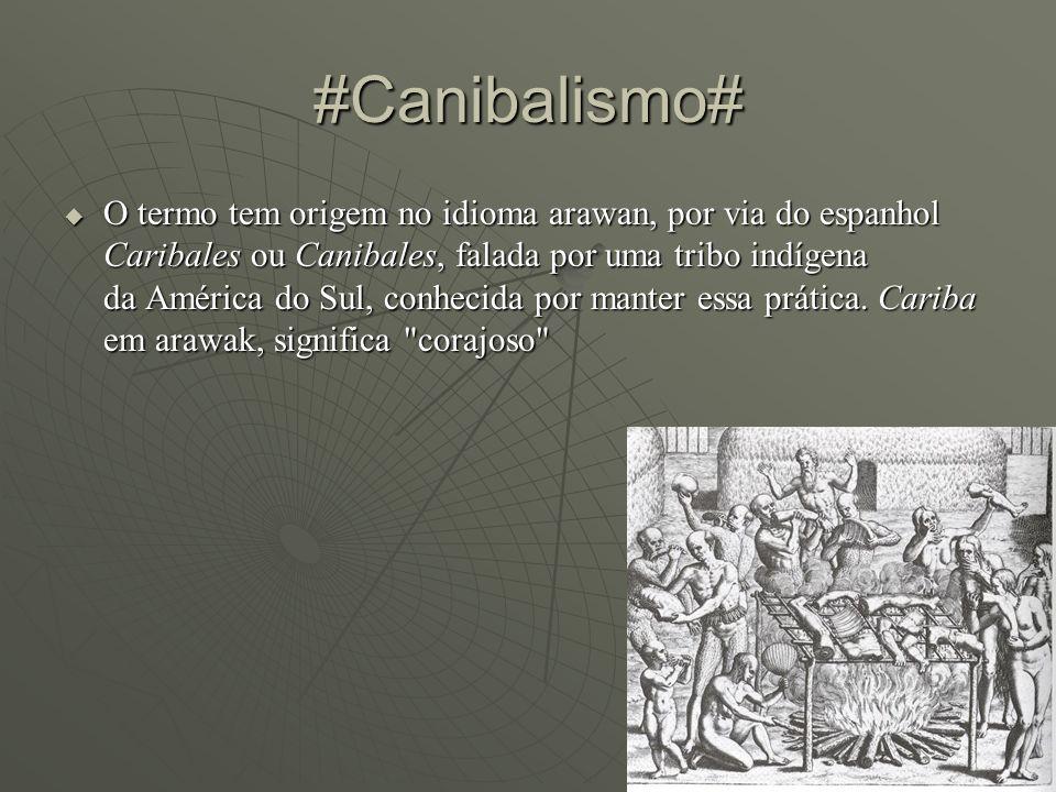 O termo tem origem no idioma arawan, por via do espanhol Caribales ou Canibales, falada por uma tribo indígena da América do Sul, conhecida por manter essa prática.