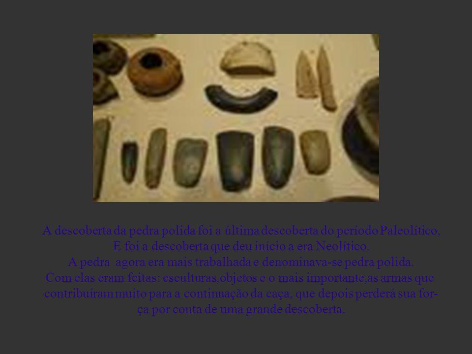 A descoberta da pedra polida A descoberta da pedra polida foi a última descoberta do período Paleolítico, E foi a descoberta que deu início a era Neol