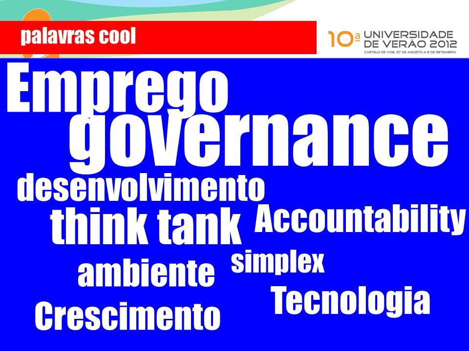 Tecnologia think tank Accountability desenvolvimento governance simplex Emprego palavras cool ambiente Crescimento