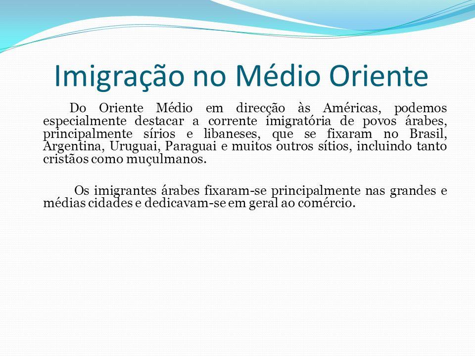 Imigração da Europa Durante o século XIX e início do século XX, a situação económica e política em países da Europa como a Itália, a Alemanha, a Espanha e a Irlanda motivaram grande número de imigrações.