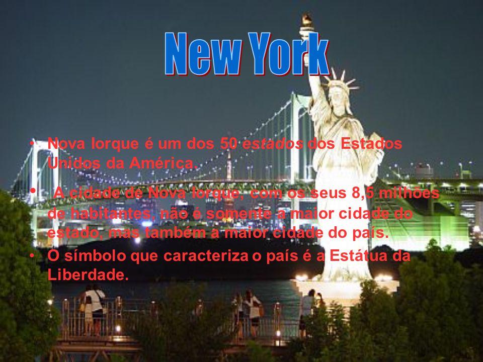 Nova Iorque é um dos 50 estados dos Estados Unidos da América.