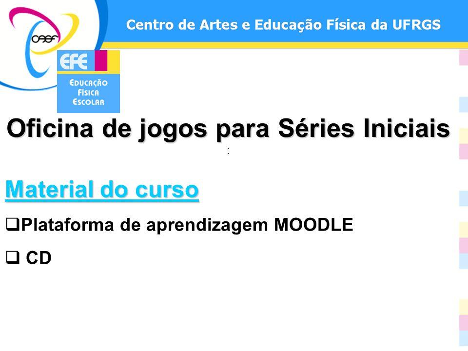 Oficina de jogos para Séries Iniciais Oficina de jogos para Séries Iniciais : Material do curso Plataforma de aprendizagem MOODLE CD
