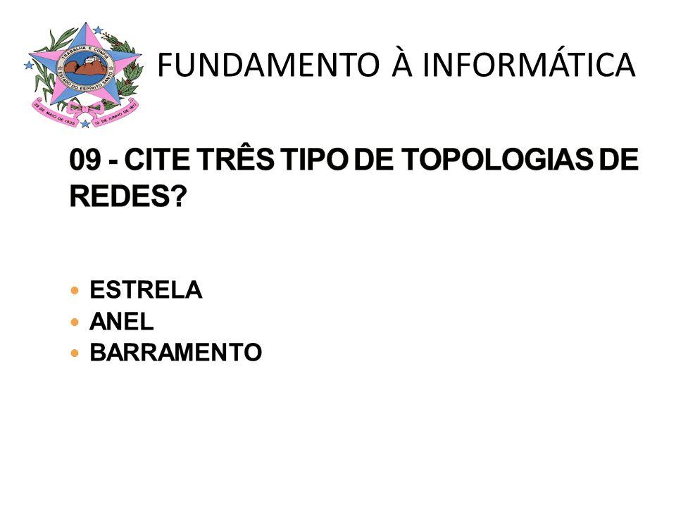 ESTRELA ANEL BARRAMENTO FUNDAMENTO À INFORMÁTICA