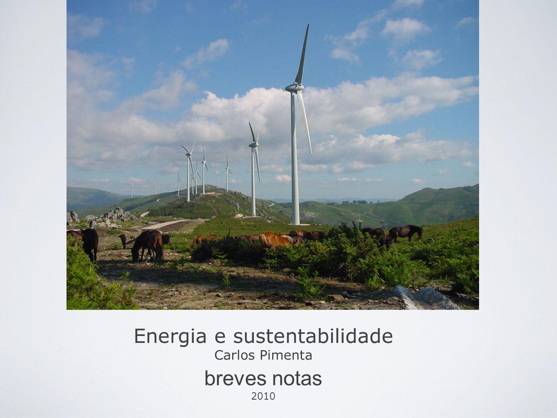 Energia e sustentabilidade Carlos Pimenta breves notas 2010