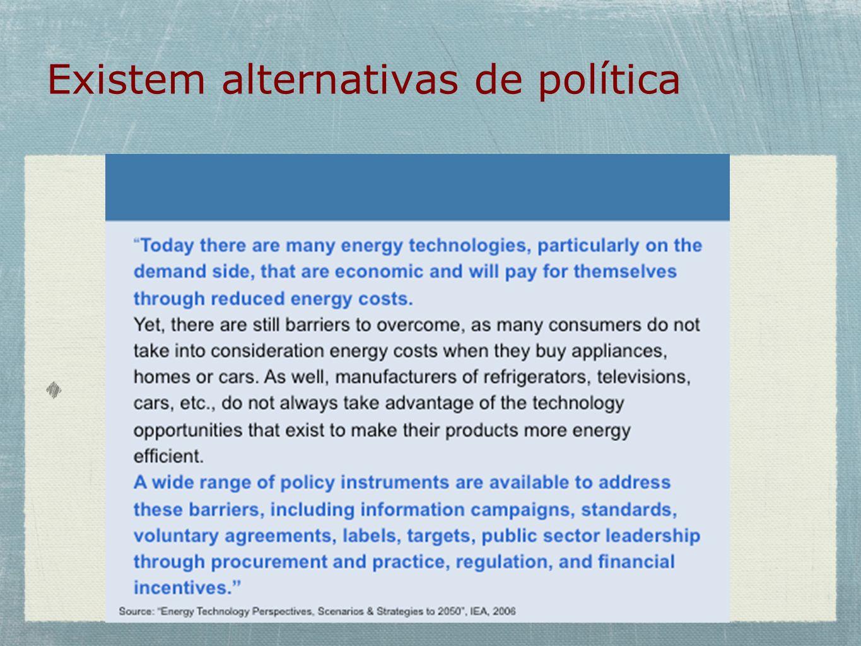 Existem alternativas de política