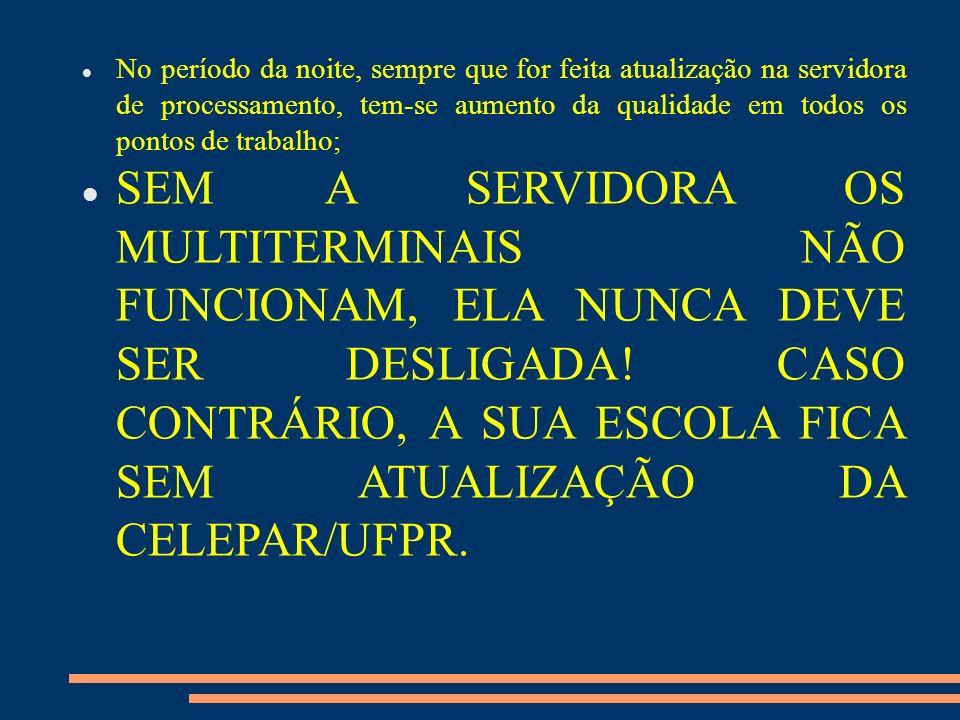 O MULTITERMINAL No Paraná Digital, os pontos de trabalho são denominados multiterminais: são computadores que possuem 4 placas de vídeo, 4 monitores, 4 teclados e 4 mouses usando, compartilhadamente, uma única unidade de processamento.