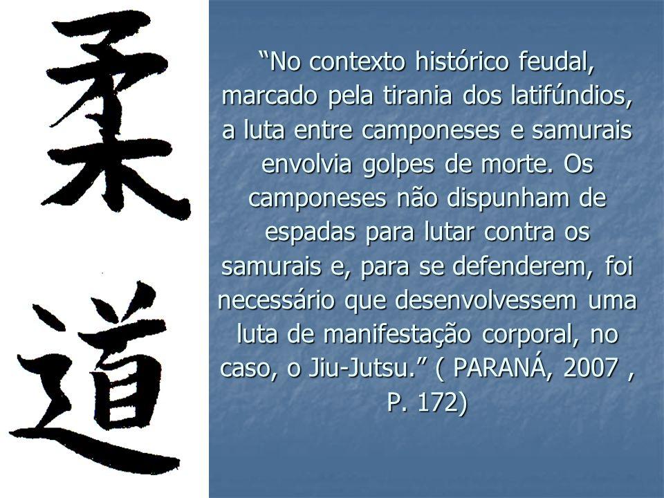 A abertura dos portos japoneses, em 1865, provocou intensas transformações do ponto de vista político-social, marcando a era Meiji, quando foi abolido o sistema feudal; houve rejeição da cultura e das instituições antiquadas; os conhecimentos de países ocidentais foram introduzidos e ocorreu acentuado declínio da prática de artes marciais no país.