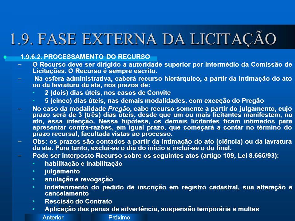 PróximoAnterior 1.9.FASE EXTERNA DA LICITAÇÃO 1.9.6.2.