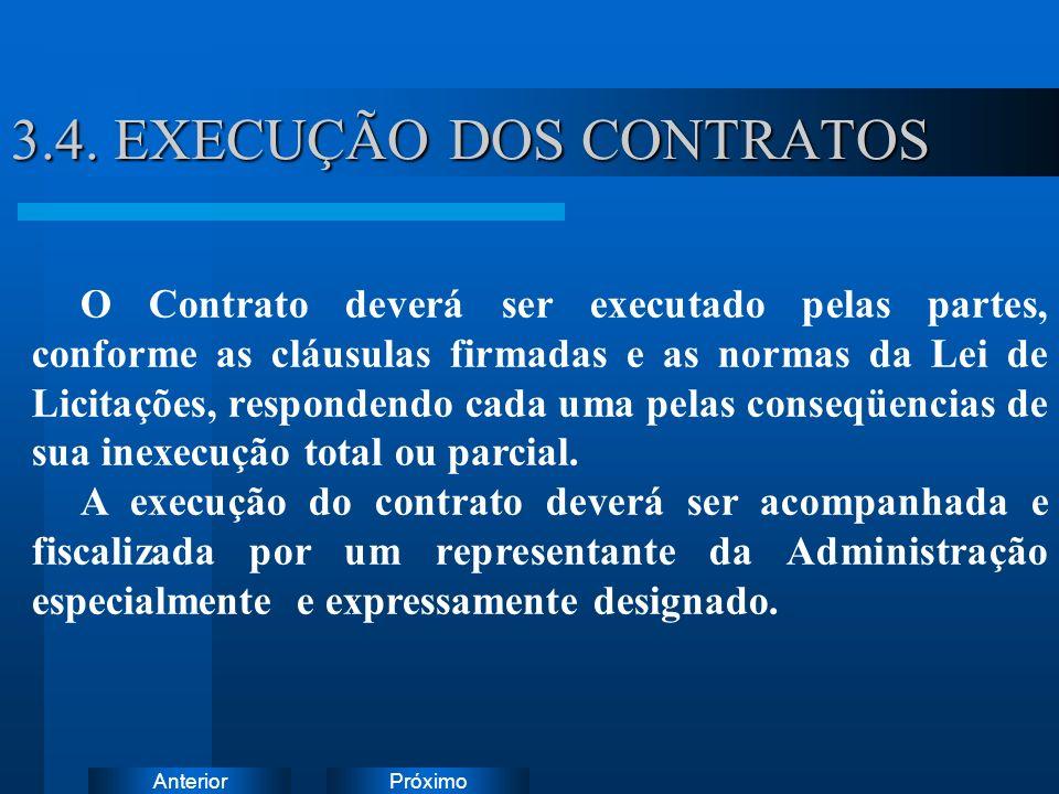 PróximoAnterior 3.4. EXECUÇÃO DOS CONTRATOS Instruções: Exclua o ícone do documento de exemplo e substitua-o pelos do documento de trabalho: Crie um d