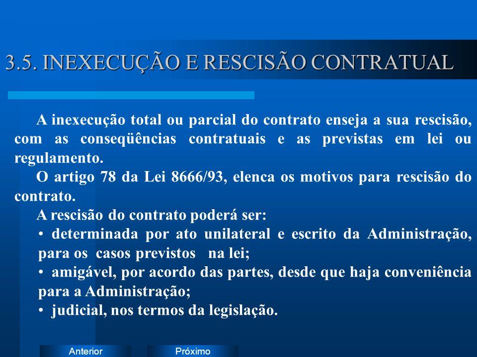 PróximoAnterior 3.5. INEXECUÇÃO E RESCISÃO CONTRATUAL Instruções: Exclua o ícone do documento de exemplo e substitua-o pelos do documento de trabalho: