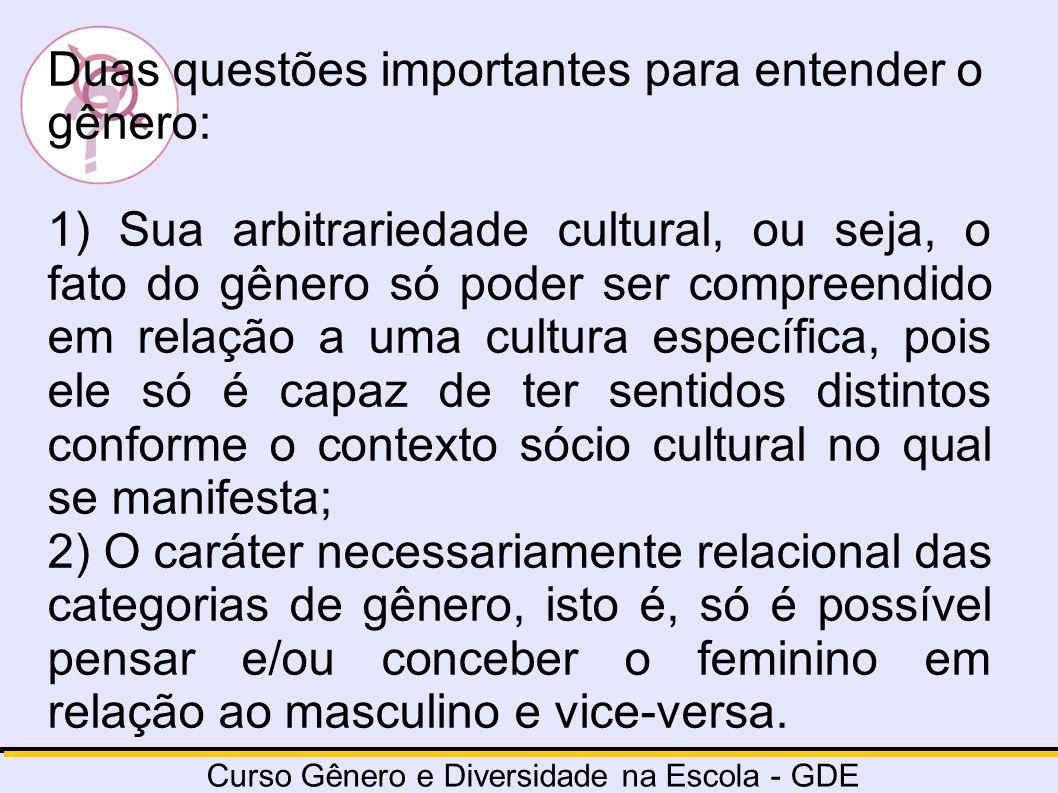 Duas questões importantes para entender o gênero: 1) Sua arbitrariedade cultural, ou seja, o fato do gênero só poder ser compreendido em relação a uma