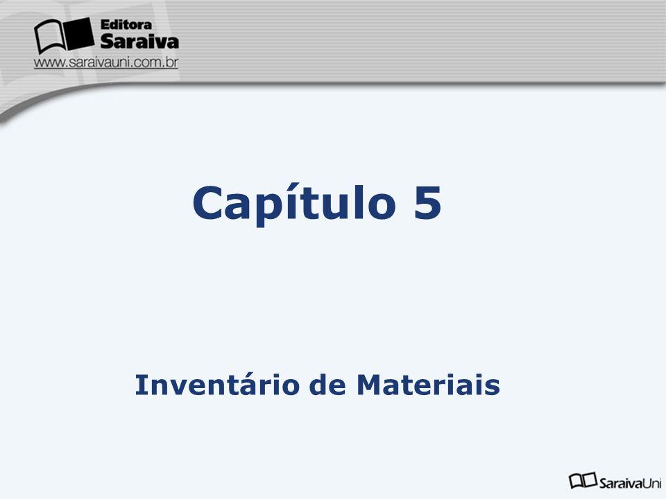 Capítulo 5 Inventário de Materiais
