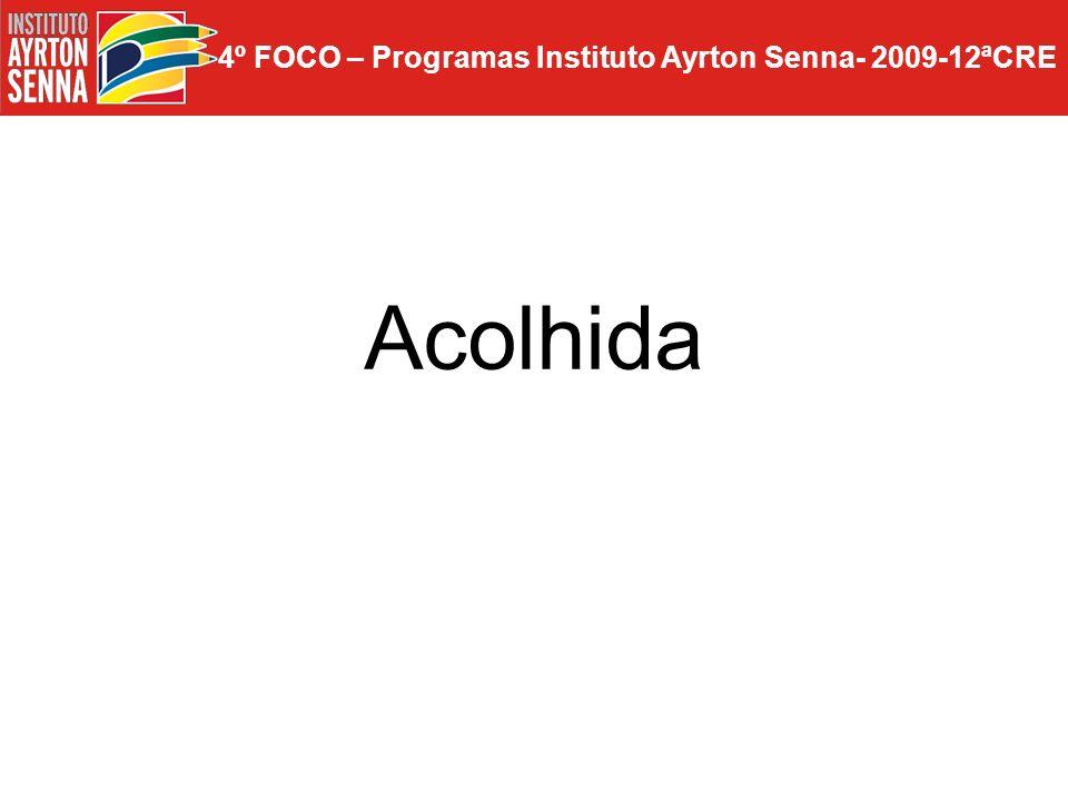4º FOCO – Programas Instituto Ayrton Senna- 2009-12ªCRE Acolhida