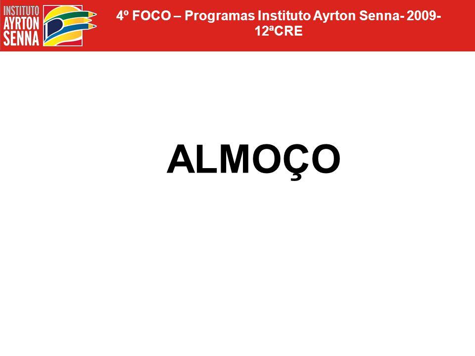 4º FOCO – Programas Instituto Ayrton Senna- 2009- 12ªCRE ALMOÇO