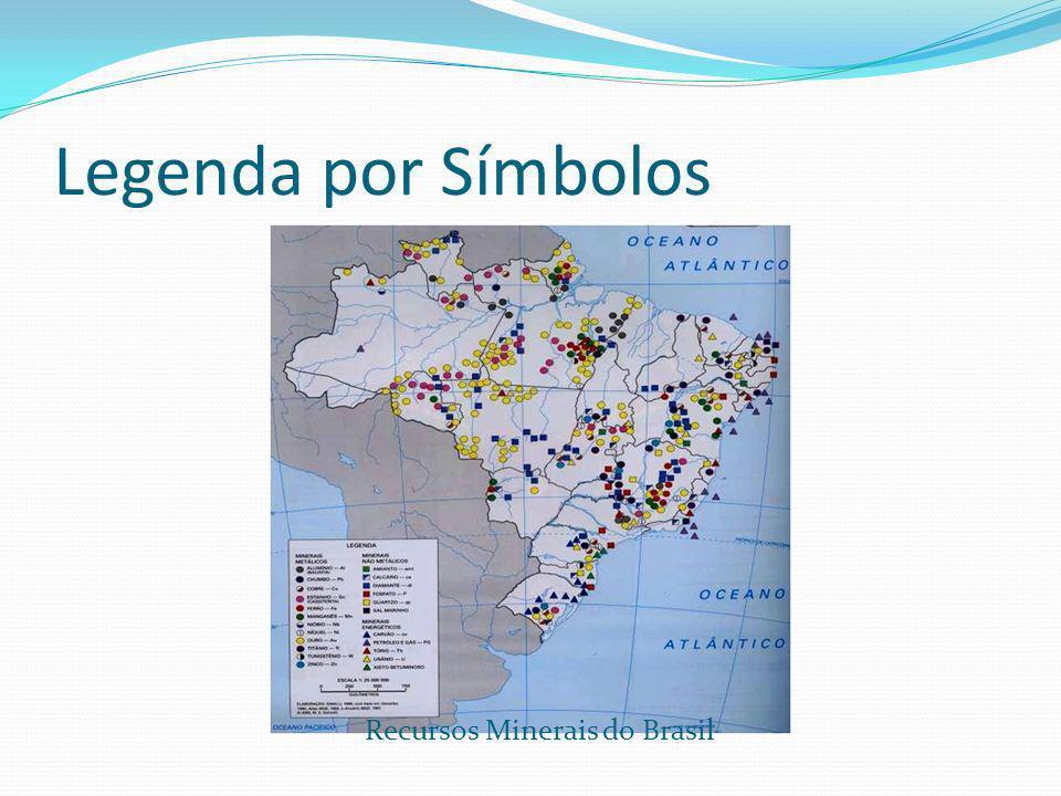 Legenda por Símbolos Recursos Minerais do Brasil