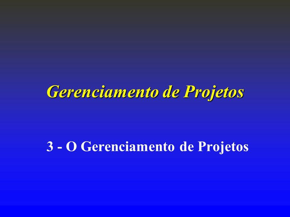 Gerenciamento de Projetos 3 - O Gerenciamento de Projetos