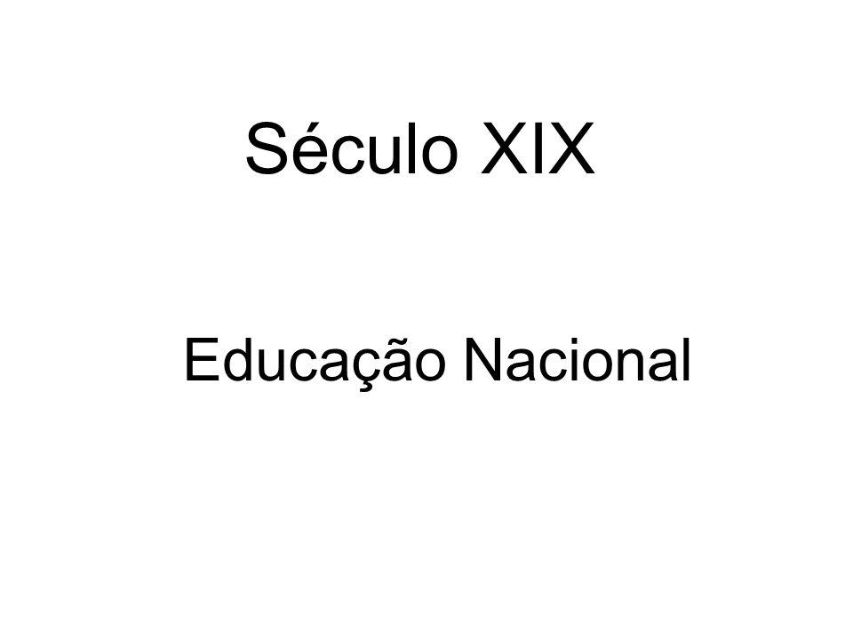 Século XIX Educação Nacional