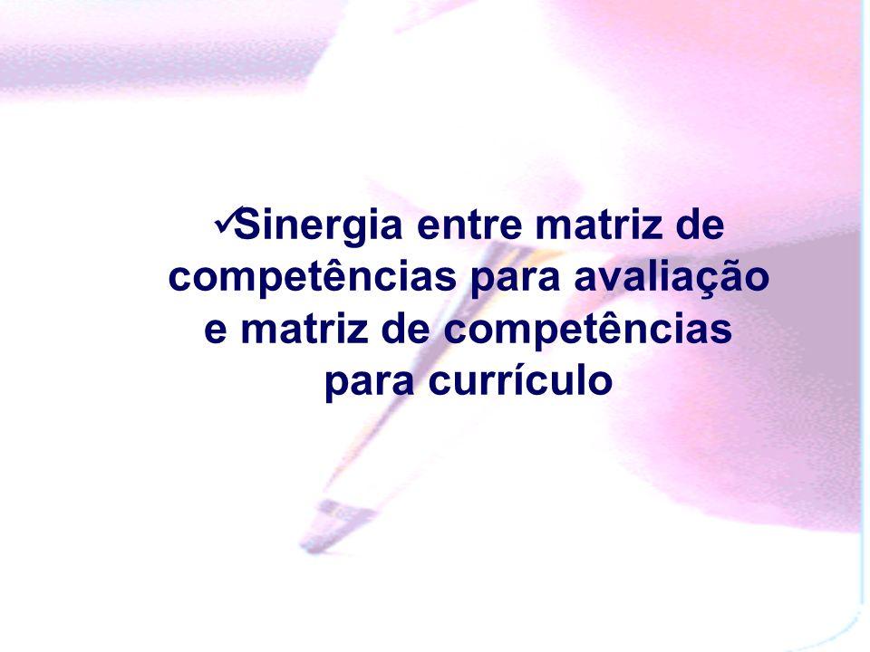 ENEM: o uso formativo da avaliação somativa Quando a avaliação somativa pode ser usada com fins somativos Currículo e Avaliação Somativa com matriz pe