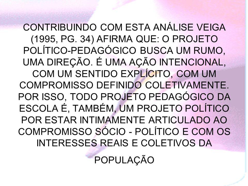 CONTRIBUINDO COM ESTA ANÁLISE VEIGA (1995, PG.