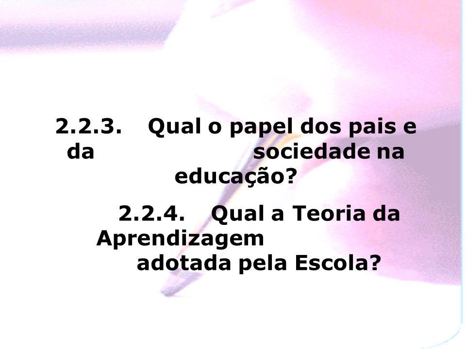 2.2.3.Qual o papel dos pais e da sociedade na educação.