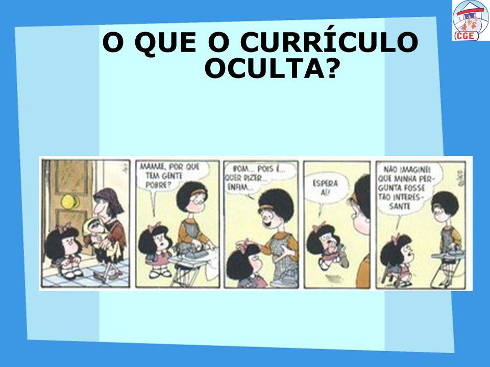 O Currículo oculta: A intencionalidade; A intencionalidade; A alienação; A alienação; A passividade; A passividade; A indiferença; A indiferença; A omissão; A omissão; O poder...