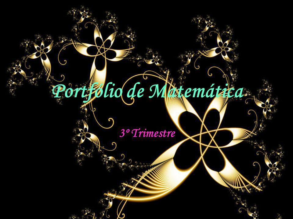 Portfólio de Matemática 3º Trimestre