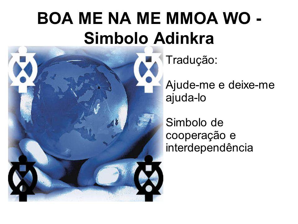 BOA ME NA ME MMOA WO - Simbolo Adinkra Tradução: Ajude-me e deixe-me ajuda-lo Simbolo de cooperação e interdependência