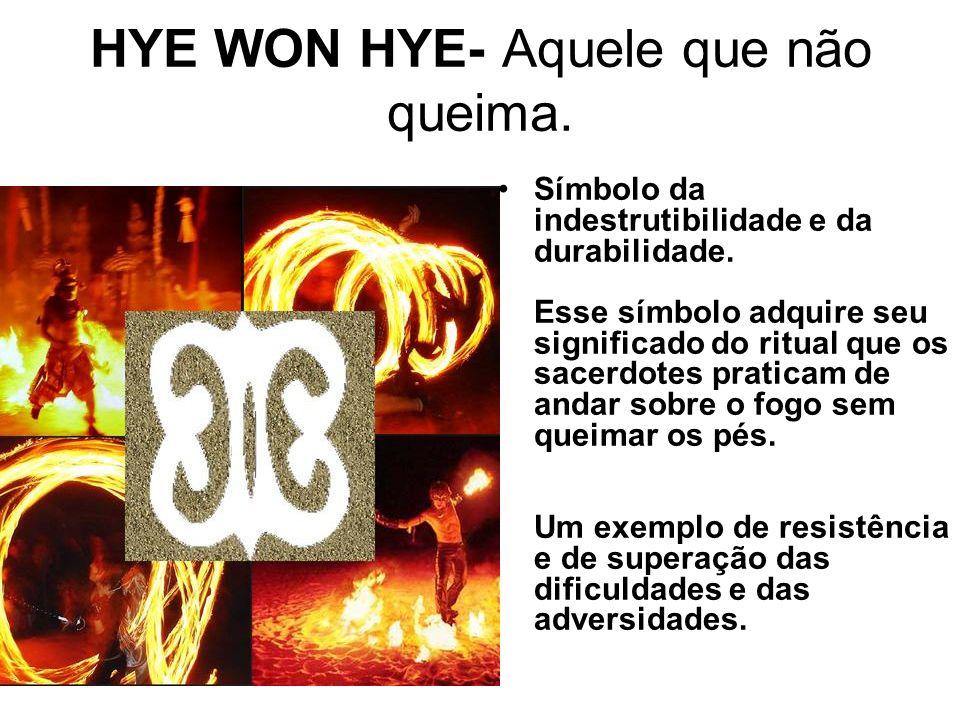 HYE WON HYE- Aquele que não queima.Símbolo da indestrutibilidade e da durabilidade.