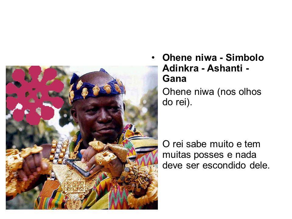 Ohene niwa - Simbolo Adinkra - Ashanti - Gana Ohene niwa (nos olhos do rei).