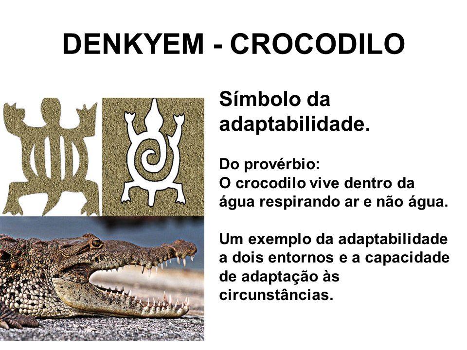 DENKYEM - CROCODILO Símbolo da adaptabilidade.