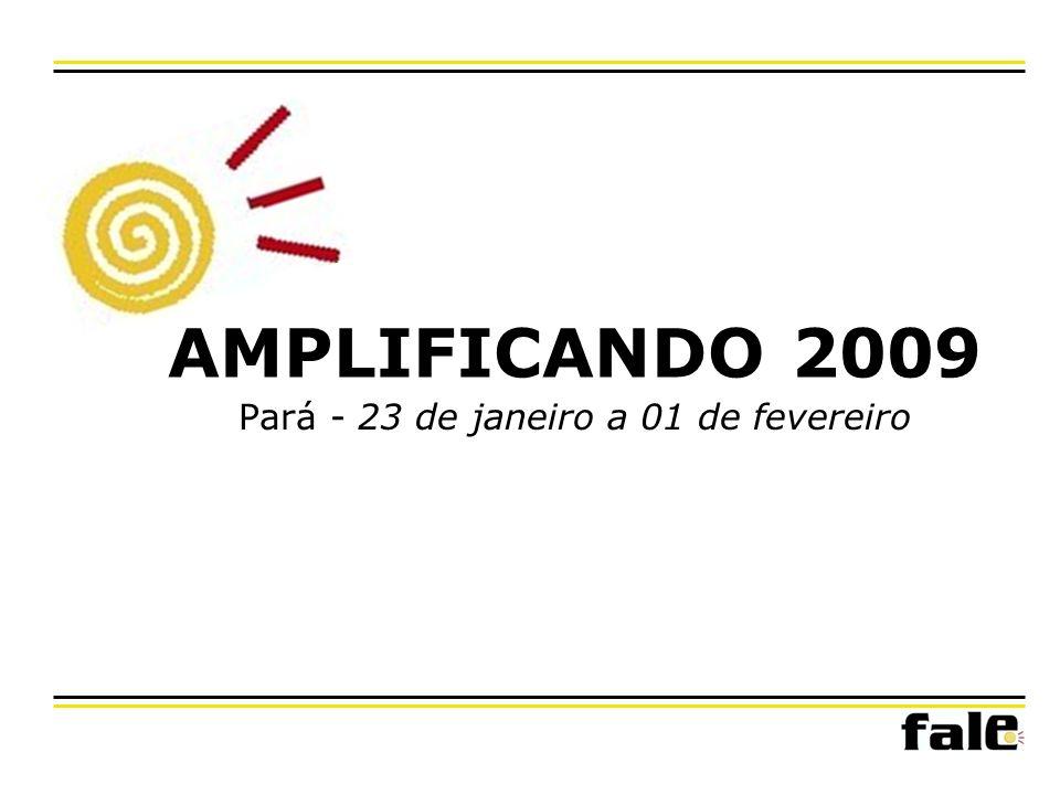 AMPLIFICANDO 2009 1.Lançamento da Campanha -Marabá 2.