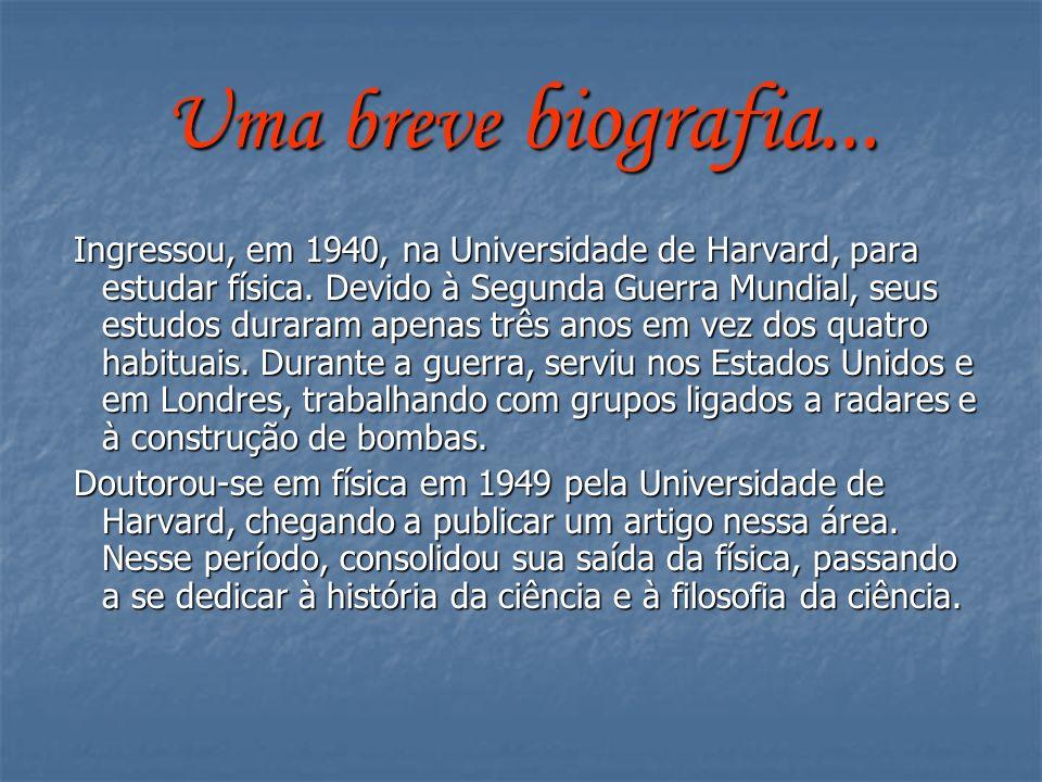 Uma breve biografia... Ingressou, em 1940, na Universidade de Harvard, para estudar física. Devido à Segunda Guerra Mundial, seus estudos duraram apen