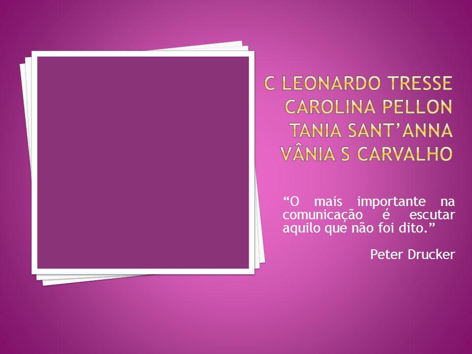 O mais importante na comunicação é escutar aquilo que não foi dito. Peter Drucker